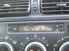 アルテッツァの外気温度計は40℃になったでぇ