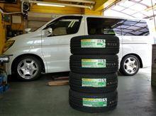 エルグランド、 ダンロップ ミニバンタイヤ RV503 タイヤ交換