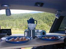 今朝の朝食の風景