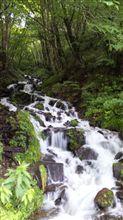 強清水の滝と、川場田園プラザ