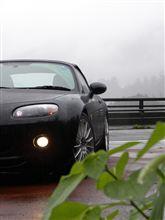 #123 Roadster  OKUTAMA  MEETING  in the rain.