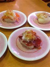 久々のかっぱ寿司はカルパッチョ!