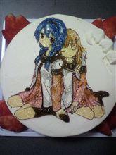 ゆるゆり 向日葵と櫻子のケーキを作ってみた