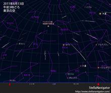 ペルセウス座流星群を観望 ♪