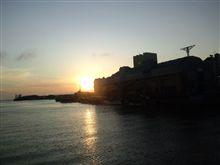 幣舞橋から眺める夕日