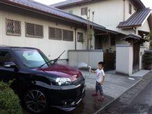 可愛いあいつと二人で洗車