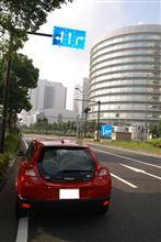 早朝の横浜を走る