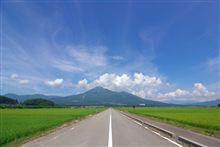 会津磐梯山へ向かう道