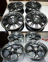 BMW純正1Psホイールのハイパー塗装&リム鏡面研磨個別仕上げ