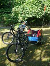 チャイルドトレーラーとトピークのベビーシートを装着してサイクリング!