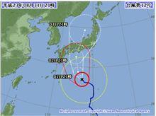 気になる台風12号の影響