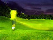 油山ゴルフ ナイター練習 子供同伴 (^^;)