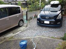 久しぶりの洗車・・・やられた~(゜゜)~