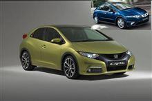 新型欧州シビック 燃費向上とデザインと・・。
