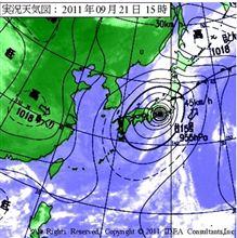 ニセワン台風本州縦断、一方放射線量は(定番)