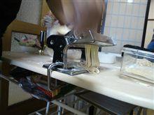 みじー、パスタ麺作りに挑戦する( ^^)
