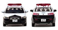ビテス社 へ 山形県警 ミツビシ ギャラン フォルティス 警ら用 パトカー ミニチュアカー の 監修 ・・・・