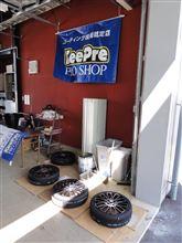 ホイールコーティング引き取りと、エブエボの洗車 ウン♪(・∀・`○)
