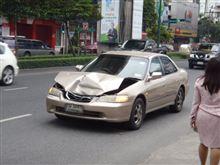 初めての事故でした。。。