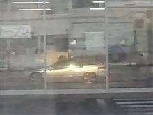 ガラスに写る愛車SVX