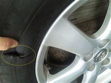 スペアタイヤがないクルマはご注意を・・・