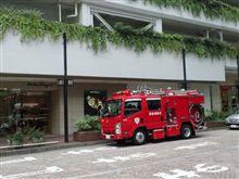 高島屋に消防車
