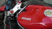 ドゥカティ998のフォーク突き出し量と挙動変化