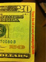 ATMからこんな20ドル札が