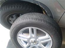 冬タイヤ交換。