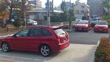 MAZDA車の 赤が三台 そろう時・・・