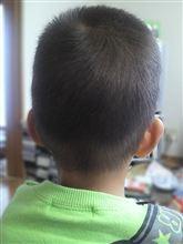 息子の後頭部…❤