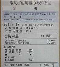 電気料金(2011年12月分)