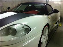 フェラーリ洗車……。 ♪( ´▽`)