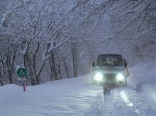 初雪中。エエ雪でした!(^^)!