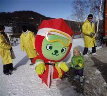 久々に親父とスキー