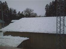 屋根の雪下ろしちう~