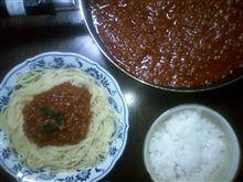 ミ-トソ-ススパゲティ。