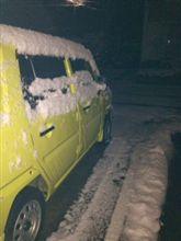 仕事始めに…雪っ!