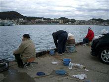お正月休み最終日も船形漁港へ
