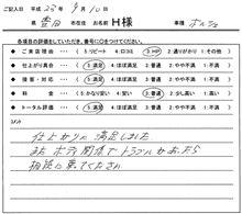 お客様の声をいただきました。 ポルシェ 板金塗装 愛知県豊田市 倉地塗装 KRC