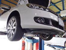 メンテナンスは大事...VW ゴルフⅥ 1.4...エンジンオイル交換+オイルエレメント