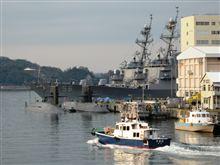 米国海軍 第7艦隊を眺めながら