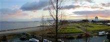 今朝のベランダからの風景