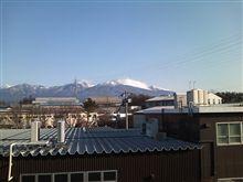 2月10日の浅間山と。