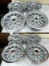 BBS-RG1PS系の丸塗り仕上げとリムポリッシュ仕上げ
