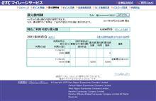 ETC 8000円分自動還元