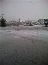 東京も雪~