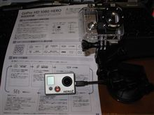 GoPro HD HEARO 説明書 と アーム