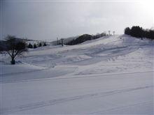 春スキー…。