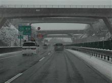 E83 X3で初めての雪道